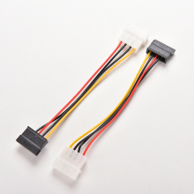New 4 Pin IDE To 15 Pin SATA  IDE To Serial ATA SATA Hard Drive Power Adapter Cable IDE To SATA Power Cable Extenders