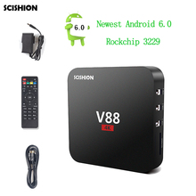 Best Price V88 Android TV BOX RK3229 Quad Core Android 5.1 RAM 1GB ROM 8GB Wifi 1080P HDMI 4 USB UHD 4K Smart Media Player