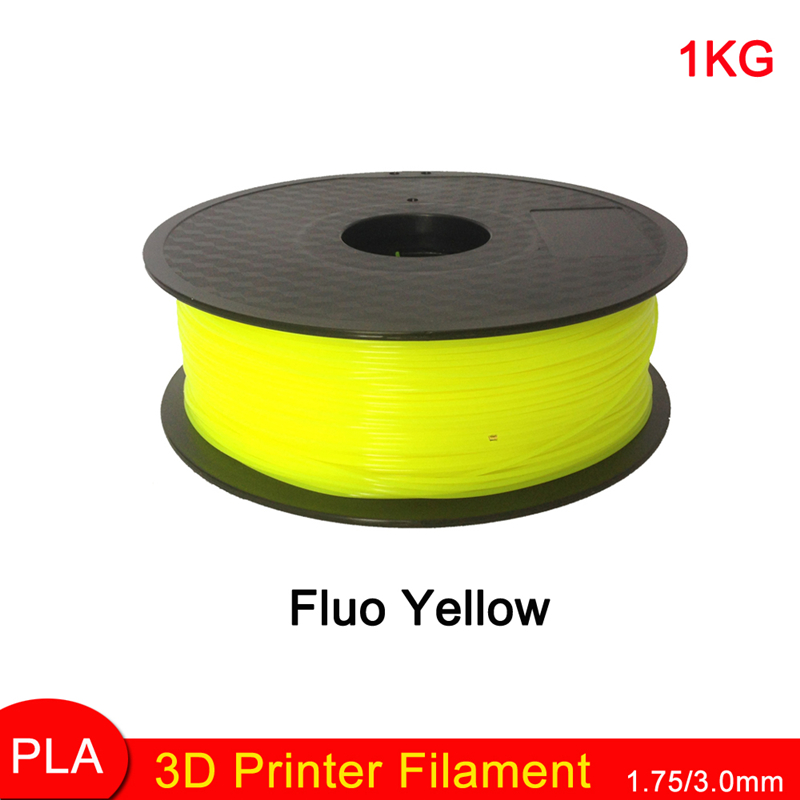 Fluo Yellow color 3D Printer Filaments 1.75mm PLA plastic Material With Spool For MakerBot RepRap and UP 1kg factory Sales<br><br>Aliexpress