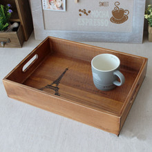 Vintage Wooden Tray 34*24.5*7CM