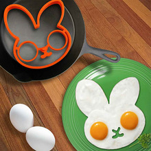 cute rabbit egg shaper silicone moulds egg silicone mould cooking tools hot new(China)