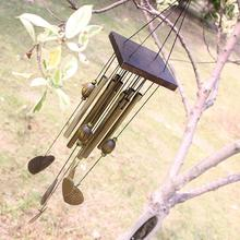 Antique New Design Love Heart 8 Tubes Outdoor Living Yard Garden Decor Wind Chimes Campanula  Free Shipping