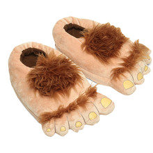 Hobbit Big Feet Slippers Creative Retro Savage Home Shoes Cotton Plush Winter Home Woman Man Slipper Indoor Cute Slippers