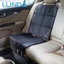 LUNDA Universal Luxury Car Seat Protector, Baby Car Seat Protection Pad, Protective Car Seat Cover, Black Leather(China)
