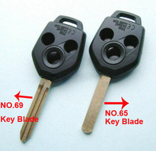 Replacement Remote Key Shell 3 Buttons for Subaru Legacy Outback XV Forester Car Key Blanks Case