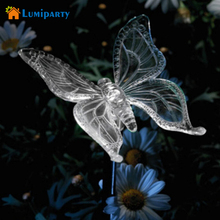 Lumiparty Solar Butterfly Pathway Lighting Garden Stake Lights Color Changing Outdoor Decor Lawn Yard Path Decorative Ornaments(China)