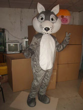 Mascot Alpha Wolf Mascot Costume Adult Cartoon Character Mascotta Kit Suit for Halloween Party Carnival
