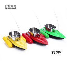 2017 Newest T10W upgrade version bait boat Remote Control Bait Fishing Boat fsat rc fish boat lure boat 300m(China)