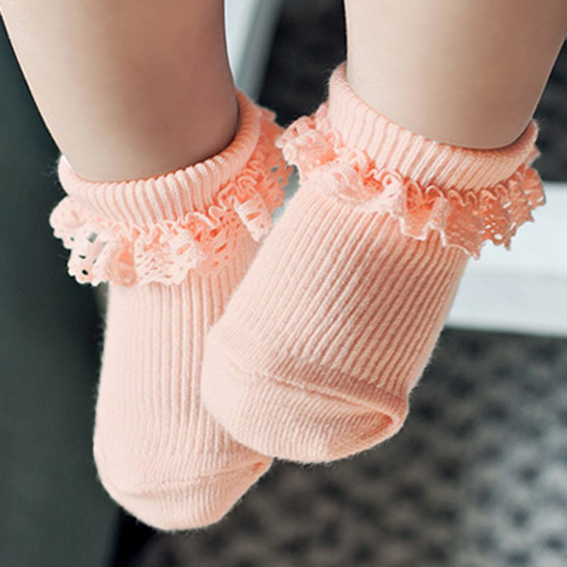 0-3Y Adorable Baby Kid Girl Princess Lace Ruffle Lovely Frilly Trim Ankle Socks