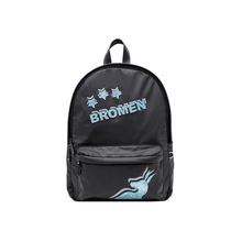 Original Design Brand 2018 Polyester Young Women Cartoon Teenage Casual Youth School Bag Laptop Lady Black Backpack(China)