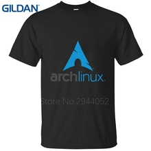 Novelty tshirt Arch Linux Logo Better blue Short Sleeves men tee shirt cotton simple jersey O-Neck(China)