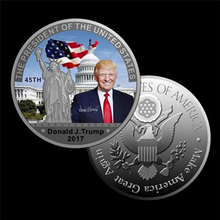 JETTING Silver Coin American 45th President Donald Trump Coin US White House The Statue of Liberty Silver Metal Coin Collection