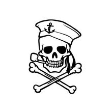 The 2nd Half Price Pirate Skull Car Sticker Motorcycle Car decals vinyl full body For BMW Benz VW Stickers car styling 0160(China)