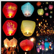 1000 Pieces Chinese Lanterns Fire Sky Fly Candle Lamp for Birthday Wedding Party lantern Wish Lamp Sky Lanterns Free Shipping
