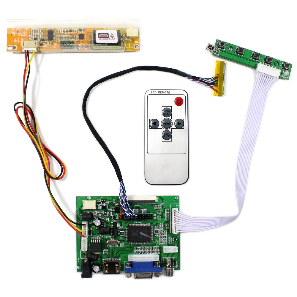 HDMI VGA 2AV LCD Controller Board Work For 15.6LP156WH1 LTN156AT01 N156B3 B156XW01 1366x768 LCD Screen<br>