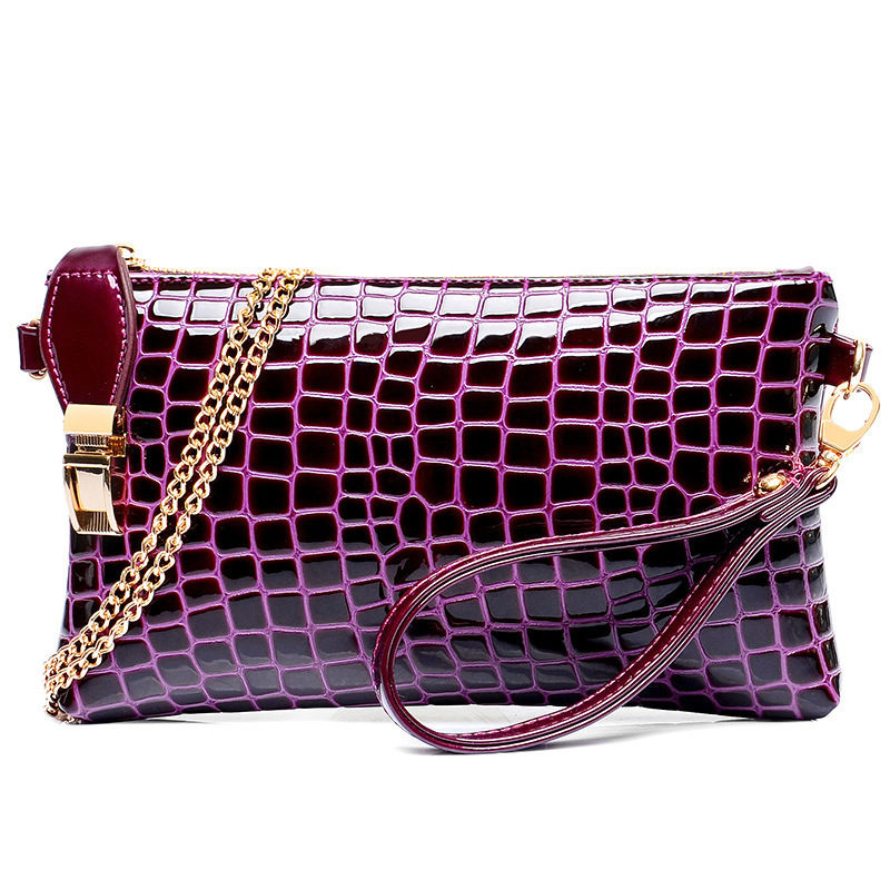 J47 New Stone Pattern Small Women Handbag Female Leather Clutch Bag Chain Evening Bags Ladies Purse Black Blue Shoulder Bag<br><br>Aliexpress