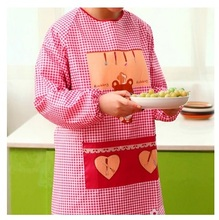 long-sleeved aprons waterproof anti dressing gowns adults kitchen hood cute aprons with sleeves