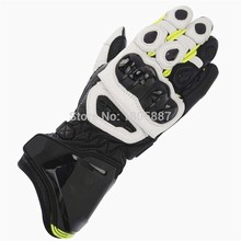 Free shipping 2016 GP PRO Motorcycle Genuine Leather Long Gloves MotoGP M1 Racing Gloves GP PRO Motorbike Cowhide Gloves(China)