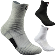 High Quality New Men Outdoor Sports Elite Basketball Socks Men Cycling Socks Compression Socks Cotton Towel Bottom Men's socks(China)