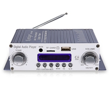 Kentiger HY - 603 Mini Portable Wireless HiFi Stereo Power Digital Amplifier with FM IR Control FM MP3 USB Playback for DC 12V