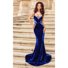 Long Dress Evening Party Gown Dress For Women Blue Dinner Dress Vestido Festa Elegant Ladies Special Occasion Dress night Female