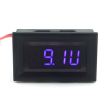 2 in 1 Digital Tachometer Tacho Gauge with Blue LED for Car Motorcycle with Battery Voltage Detector Free Shipping(China)