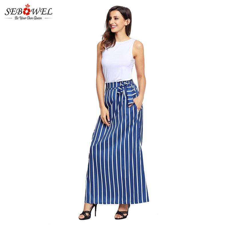 Dark-Blue-Striped-Maxi-Skirt-LC65037-5-5