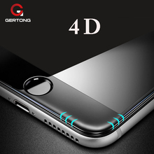 Buy GerTong 4D Premium Tempered Glass iPhone 6 S 6S 7 X 8 Plus Screen Protector Full Cover Case Safety Glass Film Curved Edge for $2.43 in AliExpress store