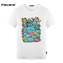 Flevans Men Clothing Doragon Kuesuto Slime Funny Printed Fashion Man T Shirt Summer Cotton O Neck T-shirt Fo Rman - Teeprinter Store store