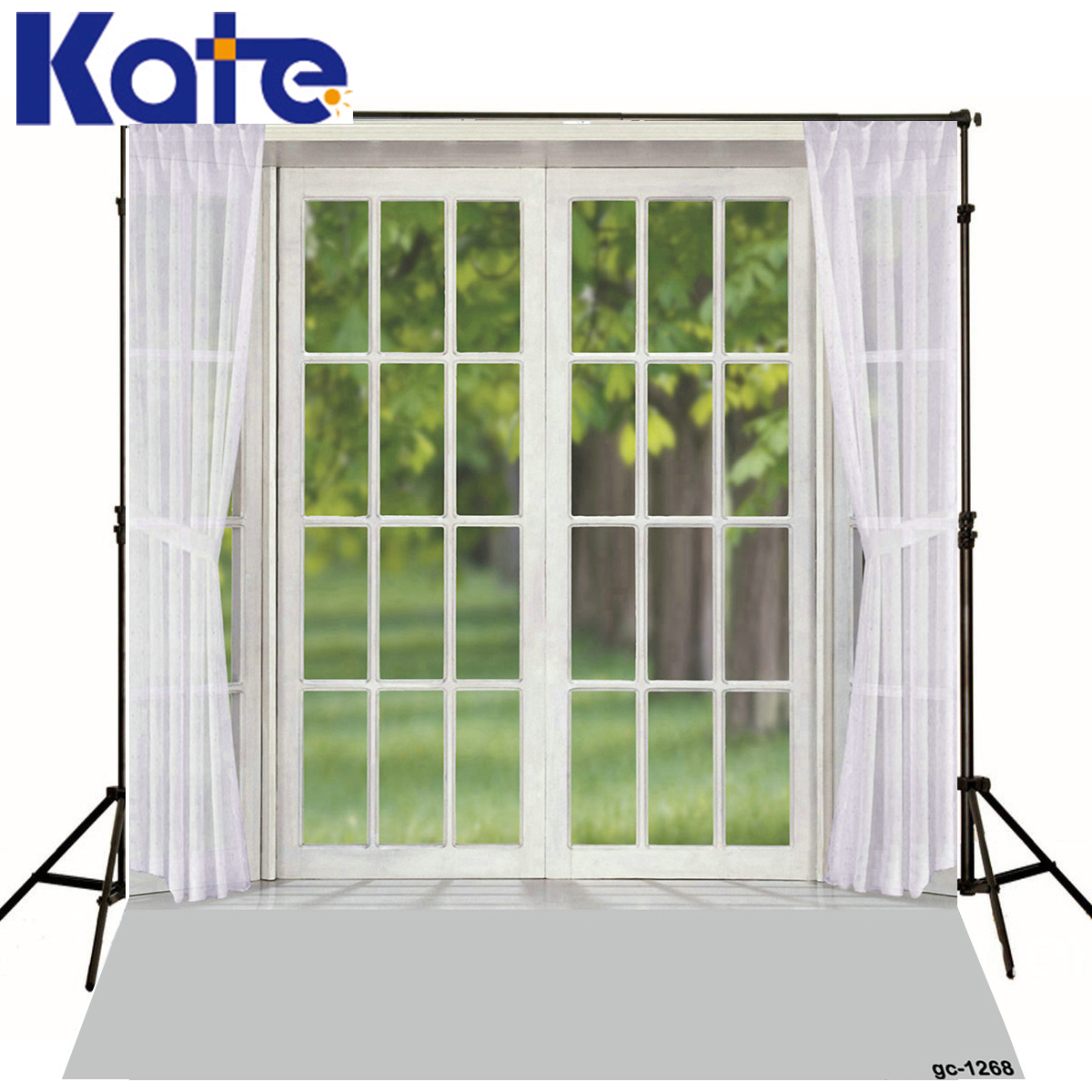 New Desgin White Window Photo Background Curtains Green Screen Photography Backdrops Trees<br><br>Aliexpress