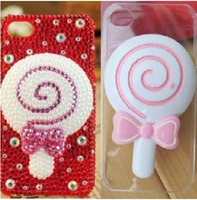 4pcs per lot Cell Phone Case Resin Dolls Lollipop Decoration Colour Lovely Charms