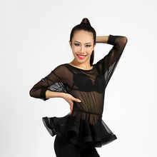 2017 Nice Sexy Latin Dance Tops Cultivate Clothes For Female Practice Clothing Lady Dance Leotard Club Presentation Shirts 1161(China)