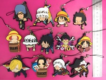 13pcs/set Anime One piece pvc figure toy Luffy/chopper/Sanji/Zoro/Ace phone strap Keychain pendant toys gifts(China)