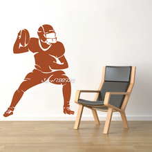 American Football Wall Decal Football Player Vinyl Stickers Sport Home Interior Murals Housewares Vinyl Graphics Mural SA783