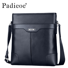 Padieoe Fashion Vintage Leather Messenger Bag Genuine Real Cow Leather Men's Handbags High Quality Man Shoulder Bag Three Colors(China)