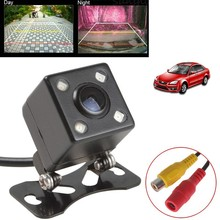 Waterproof Car Rear View Camera HD CCD 4 LED Night Vision Universal Parking Assistance(China)