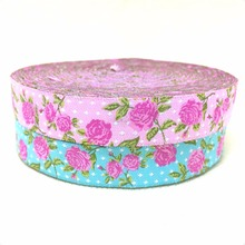 "NEW 2 different colors wholesale 5/8' 16mm AND 7/8"" 22mm 10yards/lots Polyester Woven Jacquard Ribbon with Pink rose(China)"