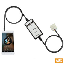 Moonet Car CD mp3 Player adapter AUX cable 3.5mm mobile phone plug For Mazda/3/5/6MX5/SPD/MPV OEM QX020(China)
