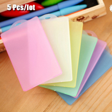 5 Pcs/lot Transparent IC Card holder Bus card & ID Holders Men Women credit card holder protective cover Simple PVC card holders