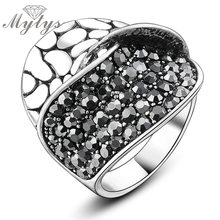 Mytys Fashion Snake Skin and Pave Setting 2 Layers Bang Rings Women Party Daily Accessories Jewelry R853(China)