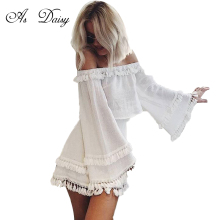 As Daisy Beautiful Tassels 2 Pieces Dress White Dresses Women Flare Long Sleeve Casual Dress Autumn Ladies Girls Vestido DR17152(China)