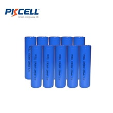 10Pcs/lot PKCELL 18650 Battery 3.7V 2200mAh Rechargeable Battery li ion Batteries Bateria Li-ion Lithium Battery for Flashlight