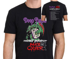 ALICE COOPER & DEEP PURPLE Together Tour 2017 T shirt Men two sides cotton casual gift tee USA Size S-3XL
