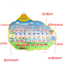 Russian Language Cloth Book Alphabet Books Kids Children Musical Play Mat Electronic Newborn Learning Educational Baby Toys