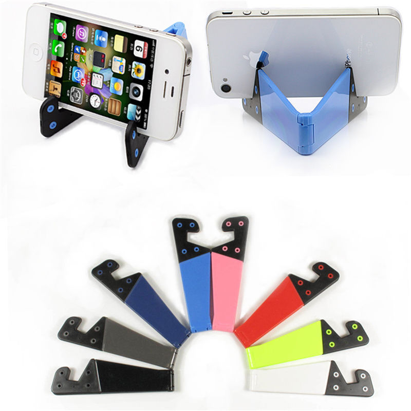 Universal V-Shaped Foldable Mobile Cell Phone Stand Holder for Smartphone Tablet Adjustable Support Phone Holder