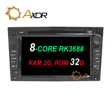 RK3688 Android 6.0 octa core Car 2 din dvd player For Opel Astra H G J Vectra Antara Zafira Corsa GPS Radio stereo 2G 32G