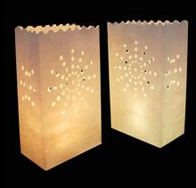 20Pcs/lot Double Heart Tea light Holder Paper Lantern Candle Bag For Christmas Party Wedding Decoration Products(China)