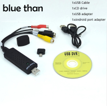 USB Video Capture Adapter TV DVD VHS Captura de v deo Card Audio AV for Computer TV Camera USB 2.0 Easiercap DC60 UTV007