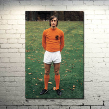 Johan Cruyff Football Legend Art Silk Poster Print 13x20 24x36 inch Netherlands Soccer Star Pictures for Living Room Decor 009