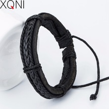 New arrived Fashion Anchor Charm Leather Men's Bracelets Popular boys Alloy Bangle DIY Handmade Cross Bracelets !